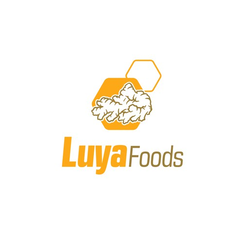 Ginger design with the title 'Logo Luya Foods'