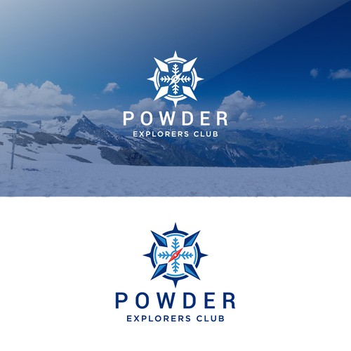 Glacier logo with the title 'captivating logo for Ski tour operator'
