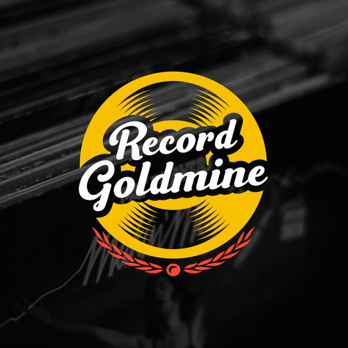 Vinyl design with the title 'Record Goldmine'