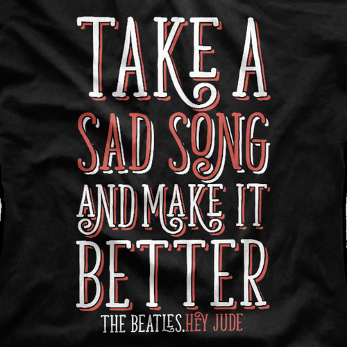 Feminine t-shirt with the title 'Beatles Song Excerpt T-Shirt'