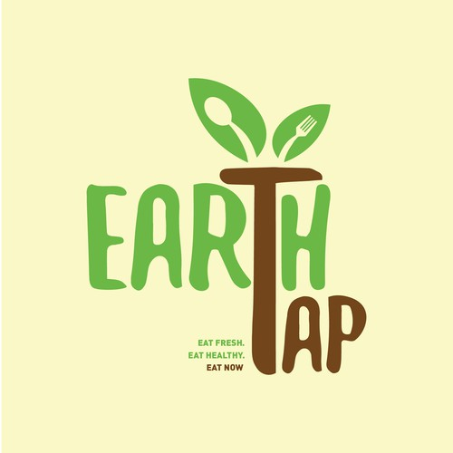 Tap design with the title 'Fresh Food delivery Logo'