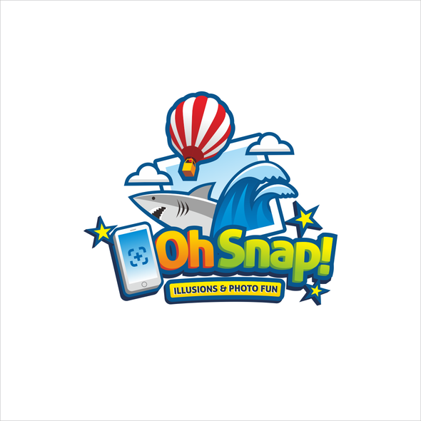 Background logo with the title 'Dramatic Logo for A 3D Photo Booth'