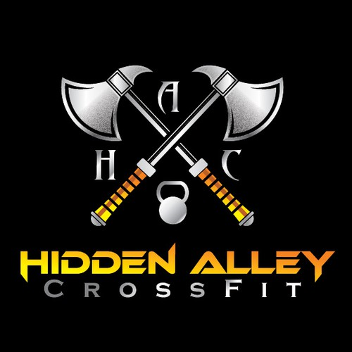 Athletic design with the title 'HIDDEN ALLEY LOGO'