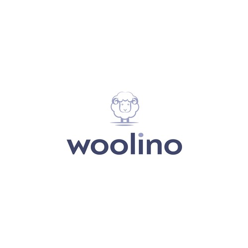 Wool logo with the title 'Logo proposal for woolino'