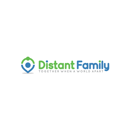 Globe logo with the title 'Distant Family logo'