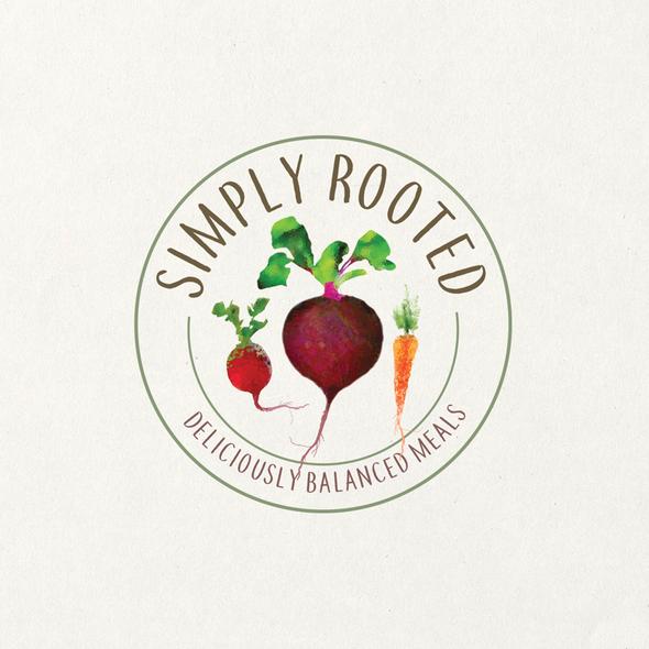 Balanced logo with the title ' fresh meals logo design'