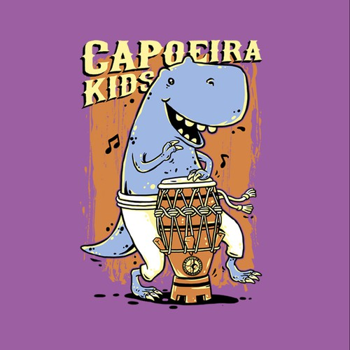 Fun t-shirt with the title 'Capoeira Kids'