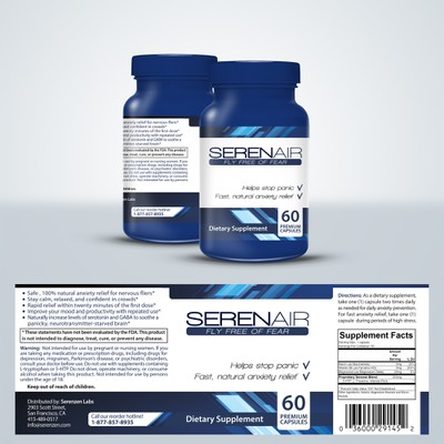 Create a winning label design for a premium anti-anxiety supplement!