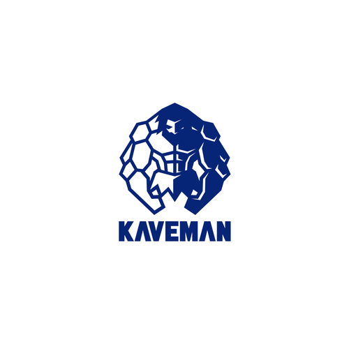 Muscle logo with the title 'Kaveman Apparel Logo'