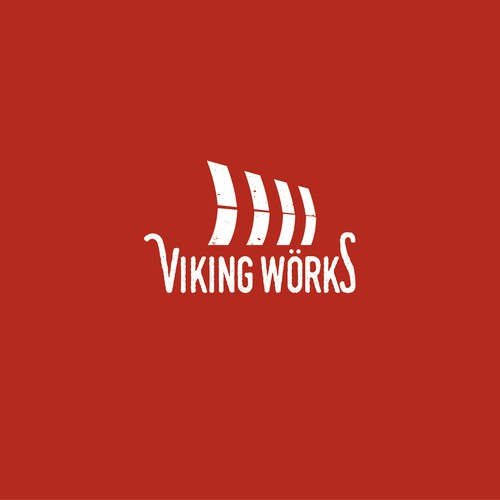 Viking ship logo with the title 'Viking themed logo for video production company'
