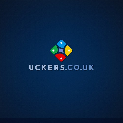 Board game design with the title 'Uckers game logo'
