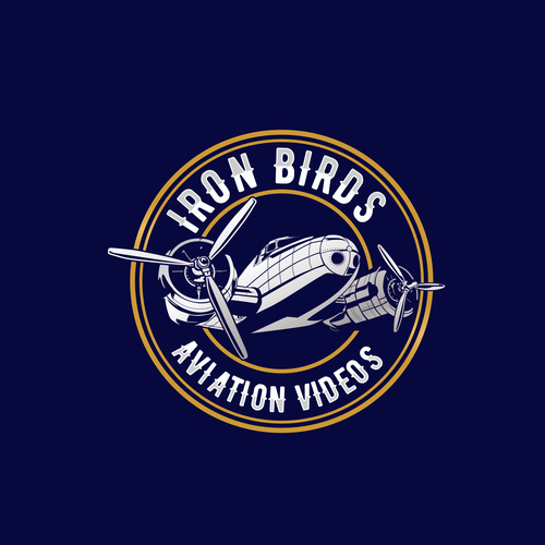 Aviation logo with the title 'IRON BIRD Logo for Aviation Videos industries '