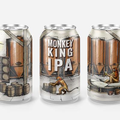 Illustration for beer label