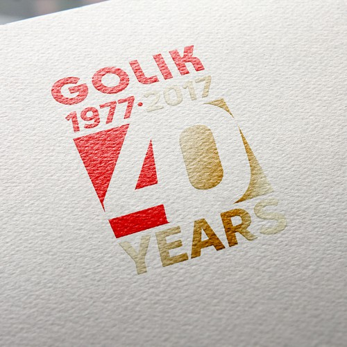 Material logo with the title 'Anniversary logo for a construction company.'