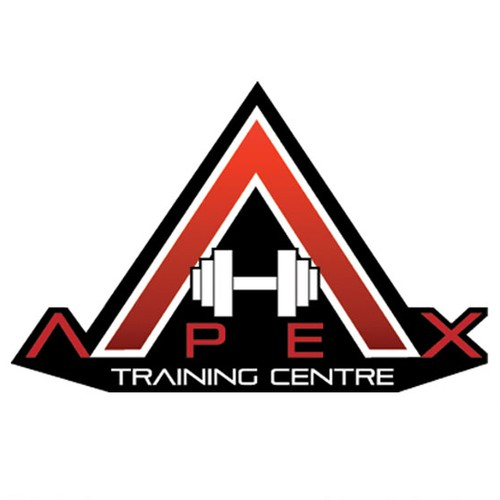 Health and fitness logo with the title 'Logo design for Apex Training Centre'