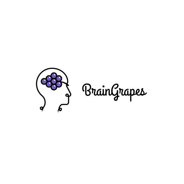 Grape logo with the title 'Logo for BrainGrapes'