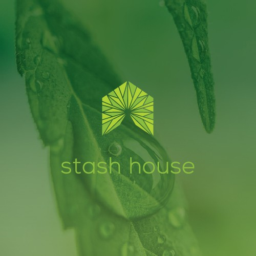 Cannabis leaf logo with the title 'Eye-catching logo for wholesale cannabis products'
