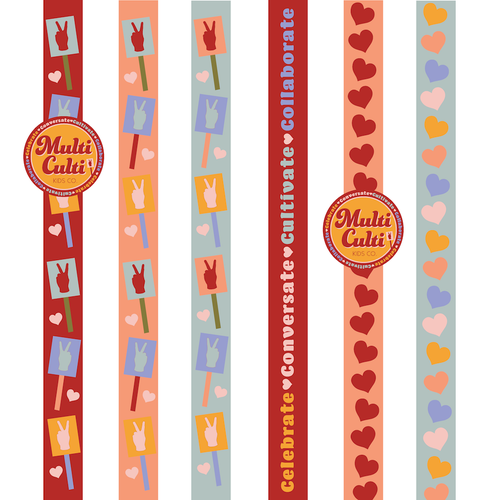 Tape logo with the title 'Ribbon designs for kids education company'