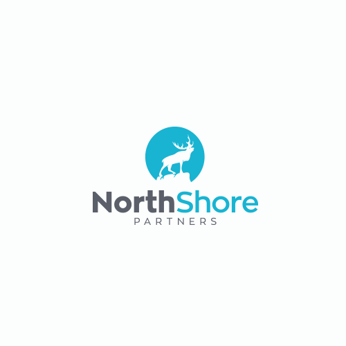 Cold design with the title 'NorthShore Partners Logo (proposal)'