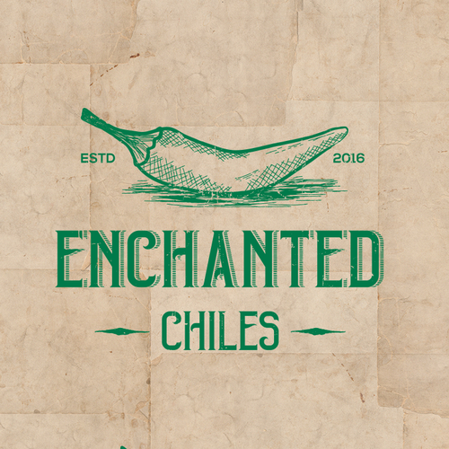 Frozen food logo with the title 'Logo concept for Enchanted Chiles'