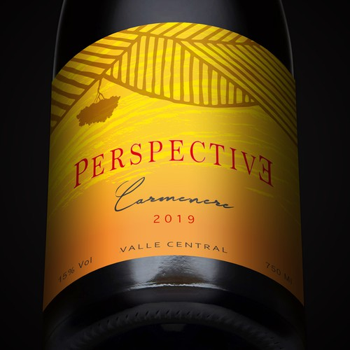 Winery label with the title 'Perspective'