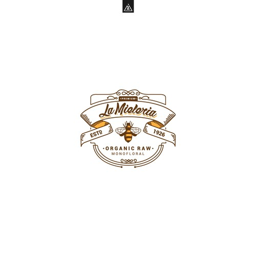 Honey brand with the title 'Logo concept for Honey company'