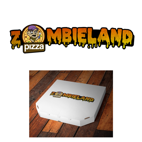 Zombie logo with the title 'logo concept for pizzeria'