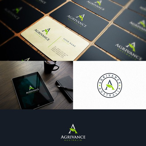 Icon brand with the title 'Awsome Logo Design for Agrivance™'