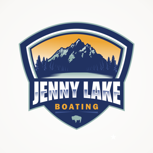 Lake logo with the title 'Bold logo for Small Ferry Company'