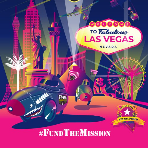 Veteran design with the title 'Fund The Mission poster'