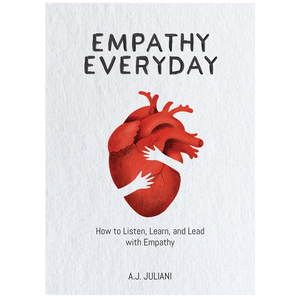 Editorial design with the title 'Empathy book illustration/ cover'
