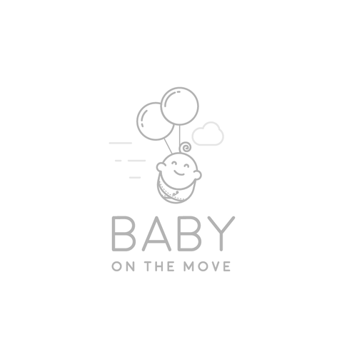 Mother design with the title 'Modern and stylish logo for a brand of baby products.'