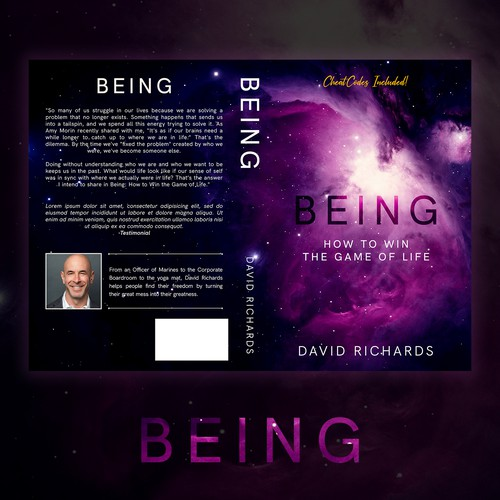 Purple book cover with the title 'Being'