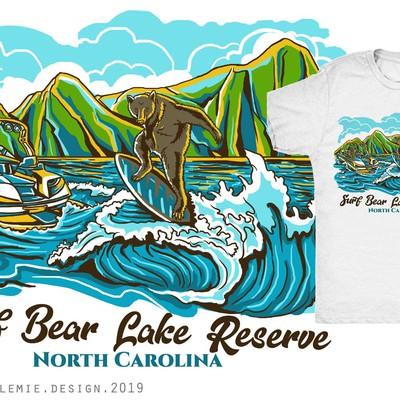 Wakesurfing Bear T-shirt