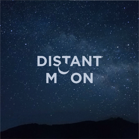 Cinematic logo with the title 'Distant moon'