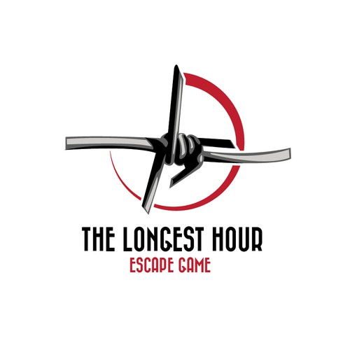 """Stopwatch logo with the title 'Escape game """"The Longest Hour""""'"""