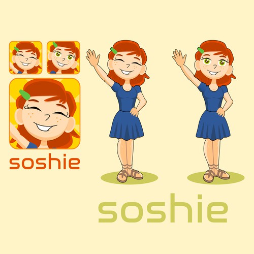 Dress design with the title 'Soshie'