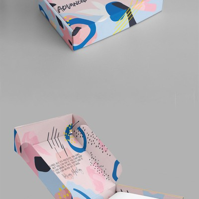 Mailing box abstract design