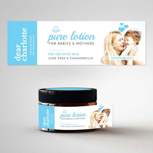 Purity design with the title 'Label concept for Baby Lotion'