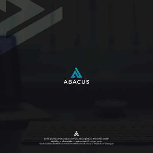 Abacus logo with the title 'Logo design for Abacus'