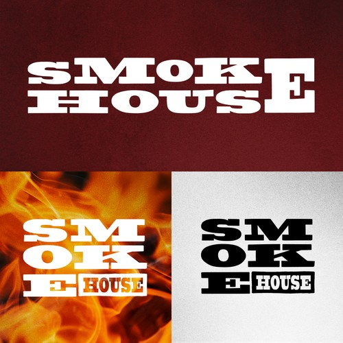 BBQ brand with the title 'Smokehouse BBQ Logo Design'