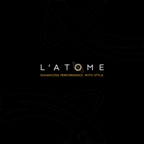Atom logo with the title 'Organic & luxury logo for clothing brand '