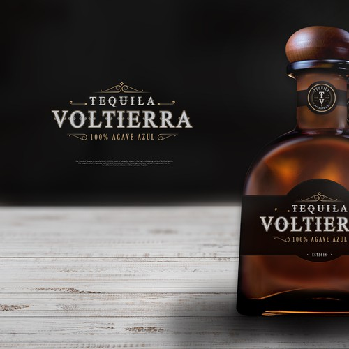 Agave design with the title 'VOLTIERRA | TEQUILA'