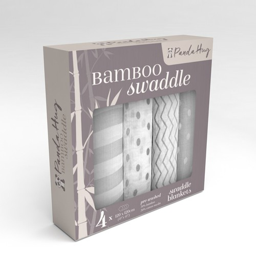 Bamboo design with the title 'package design for bamboo swaddle blankets'