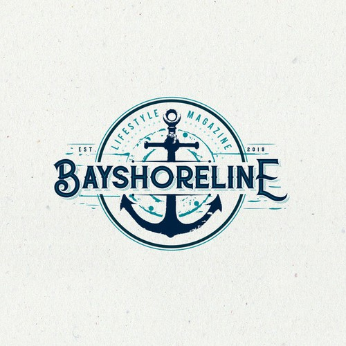 Yacht logo with the title 'Sea style logo design'