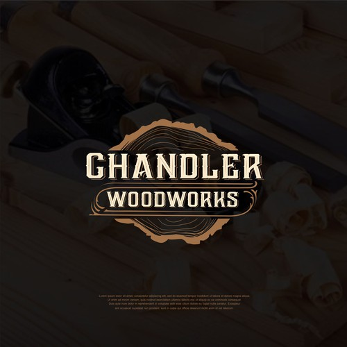 Carving logo with the title 'CHANDLER WOODWORS'