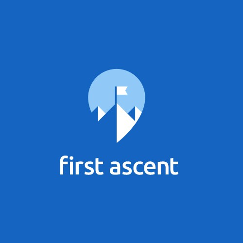Climbing logo with the title 'First Ascent'
