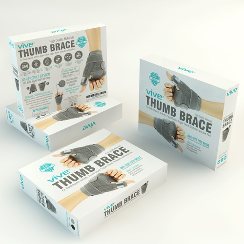 Physical therapy design with the title 'Online Company Needs Powerful New Packaging.'