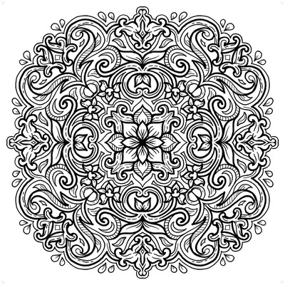 Batik Mandala Coloring Book