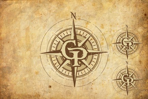 Brewing company logo with the title 'Compass Logo'